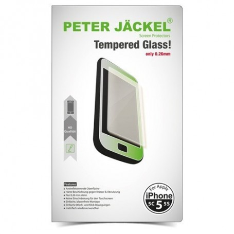 Peter Jäckel - Tempered Glass for Apple iPhone 5 / iPhone 5C / iPhone 5S - iPhone tempered glass - ON2530