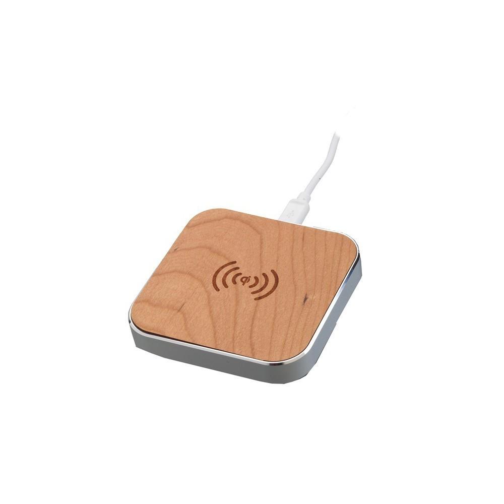 Unbranded - QI Draadloze telefoon oplader WOODY SILVER by PETER JÄCKEL™ ON3205 - Draadloze laders - ON3205 www.NedRo.nl