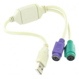 USB naar 2 x PS/2 Adapter YPU002