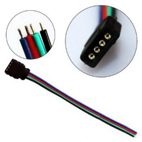 NedRo - RGB Klik Connector met 4 kanaals 10mm Female ansluiting AL498 - LED connectors - AL498 www.NedRo.nl