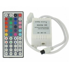 NedRo, RGB LED IR Controller + Afstandsbediening 48 knoppen, LED Accessoires, 06005, EtronixCenter.com