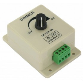 NedRo - 12V 24V LED Dimmer pentru LED Strip de o singura culoare - LED Accessorii - LCR08 www.NedRo.ro
