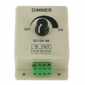 NedRo - Enkele kleur LED Dimmer schakelaar voor 12V en 24V LED Strip - LED Accessoires - LCR08 www.NedRo.nl