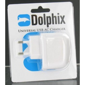 Dolphix - Dolphix Universele USB AC Oplader Wit 49892 - Thuislader - 49892 www.NedRo.nl