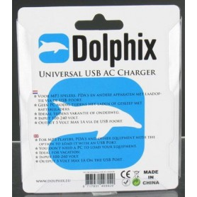 Dolphix, Dolphix Universal USB AC Charger White 49892, Ac charger, 49892, EtronixCenter.com